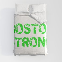Support BOSTON STRONG Green Grunge Comforters