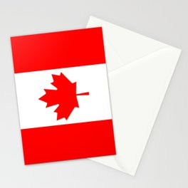 The National Flag of Canada, Authentic color and 3:5 scale version  Stationery Cards