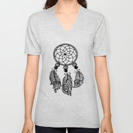 Womens Tribal Red Indian Native American Feathers Culture Novelt Weaver native american Unisex V-Neck