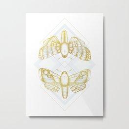 Polillas - Gold Metal Print