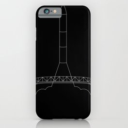 Rocket Launching Behind the Auckland Harbour Bridge iPhone Case