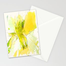 Pale Yellow Poinsettia 1 Serene Stationery Cards