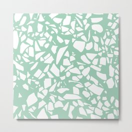 Terrazzo Mint Metal Print