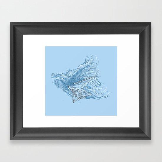 gliding on the wind Framed Art Print