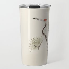 Oriental Red-Crowned Crane 002 Travel Mug
