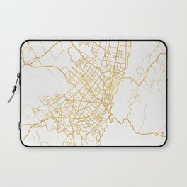 BOGOTA COLOMBIA CITY STREET MAP ART Laptop Sleeve