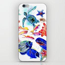 Sea World,Underwater Scene coral sea, beach tropical ocean sea beach house design iPhone Skin