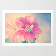 Flowers forest  Art Print