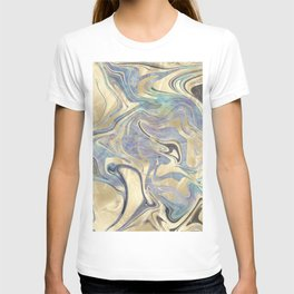Liquid Gold Mermaid Sea Marble T-shirt
