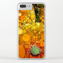 Sunset Poppies Clear iPhone Case