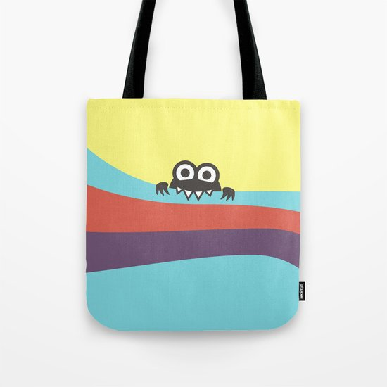 Yummy Colorful Stripes Cute Cartoon Character Tote Bag