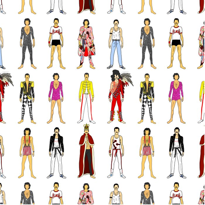 Outfits of Freddie Fashion Duvet Cover