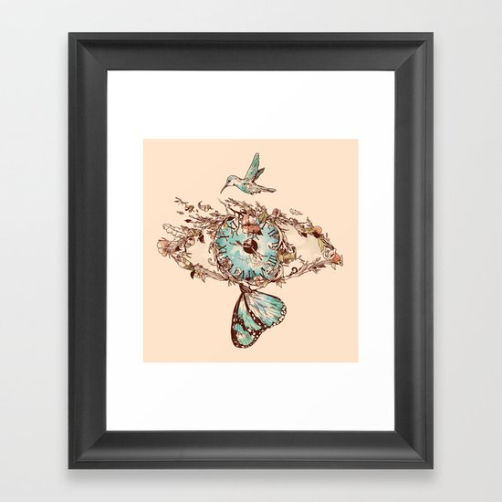 Watching the Passage of Time Framed Art Print