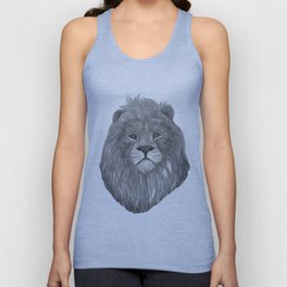 lion head Unisex Tank Top