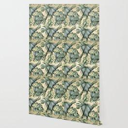 Palm Leaves Classic Linen Wallpaper