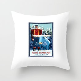 Landmark Series | MN Paul Bunyan Winter Throw Pillow