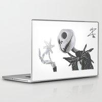 jack skellington Laptop & iPad Skins featuring Jack Skellington by DΔZΞD.