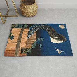 Katsushika Hokusai - The Plate Mansion Rug