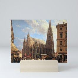 Rudolf von Alt St. Stephen's Cathedral in Vienna Mini Art Print