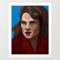 agent carter Art Prints featuring Agent Carter by Forticule