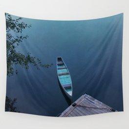 Blue Canoe Wall Tapestry