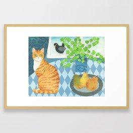 Birdie on my Windowsill Framed Art Print