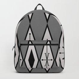 Mid Century Modern Large Diamonds Black Gray Backpack