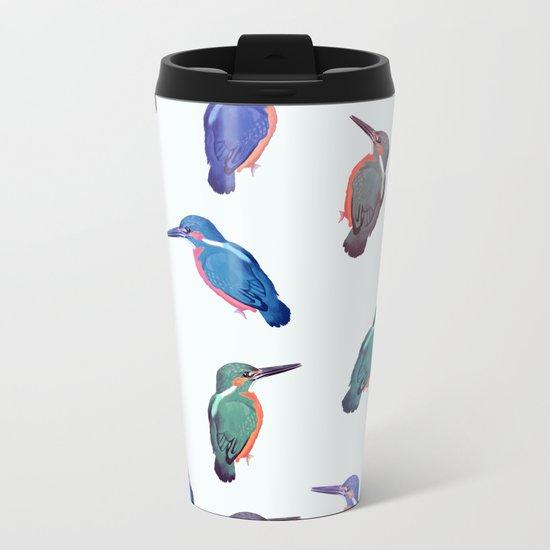 Colored kingfishers Metal Travel Mug