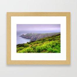 Howth Cliff Walk in Howth, Ireland Framed Art Print