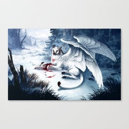 Pouncing Snow Canvas Print