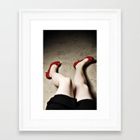 legs Framed Art Prints featuring Legs by Flashbax Twenty Three