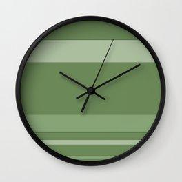 Green, striped Wall Clock