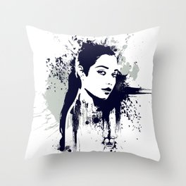 A Girl Throw Pillow
