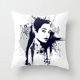 A Girl Throw Pillow