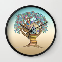 Live Simply, Love Trees Wall Clock