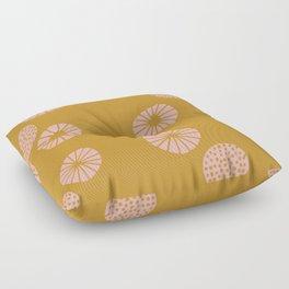 Dandelion flying mustard Floor Pillow