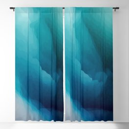 """Inner Calm"" Turquoise Modern Contemporary Abstract Blackout Curtain"