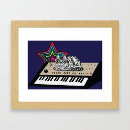 Synth Cat Framed Art Print