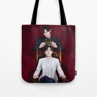kpop Tote Bags featuring King Sunggyu by Nikittysan