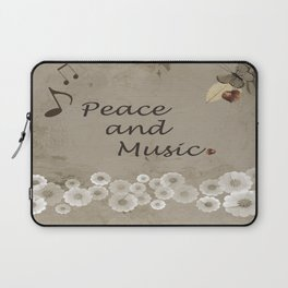 Peace and Music Laptop Sleeve