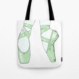 Ballet Pumps: Green Tote Bag