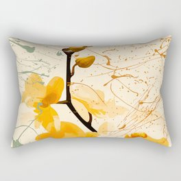 Yellow Orchid Rectangular Pillow