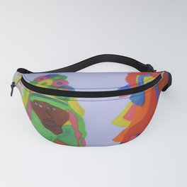 Festa do Rosario, Colorful Art, Brazil, Parade, Headdress and Drums Fanny Pack
