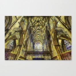 York Minster Van Gogh Style Canvas Print