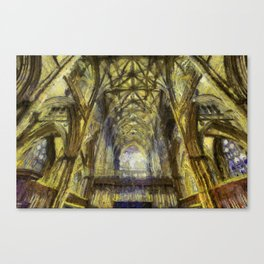 York Minster Van Gogh Style Canvas Print