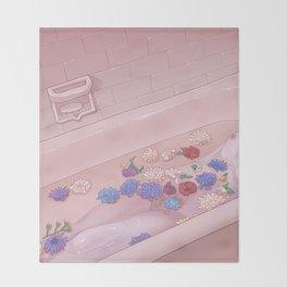Flower Bath 9 Throw Blanket