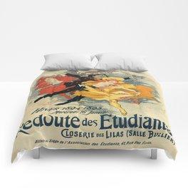 Vintage poster - Redoute des Etudiants Comforters