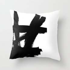 Abstract black & white 2 Throw Pillow