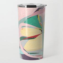 Shapes and Layers no.23 - Abstract Draper pink, green, blue, yellow Travel Mug