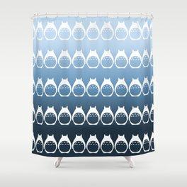 Friendly Neighbor (reverse ombre) Shower Curtain